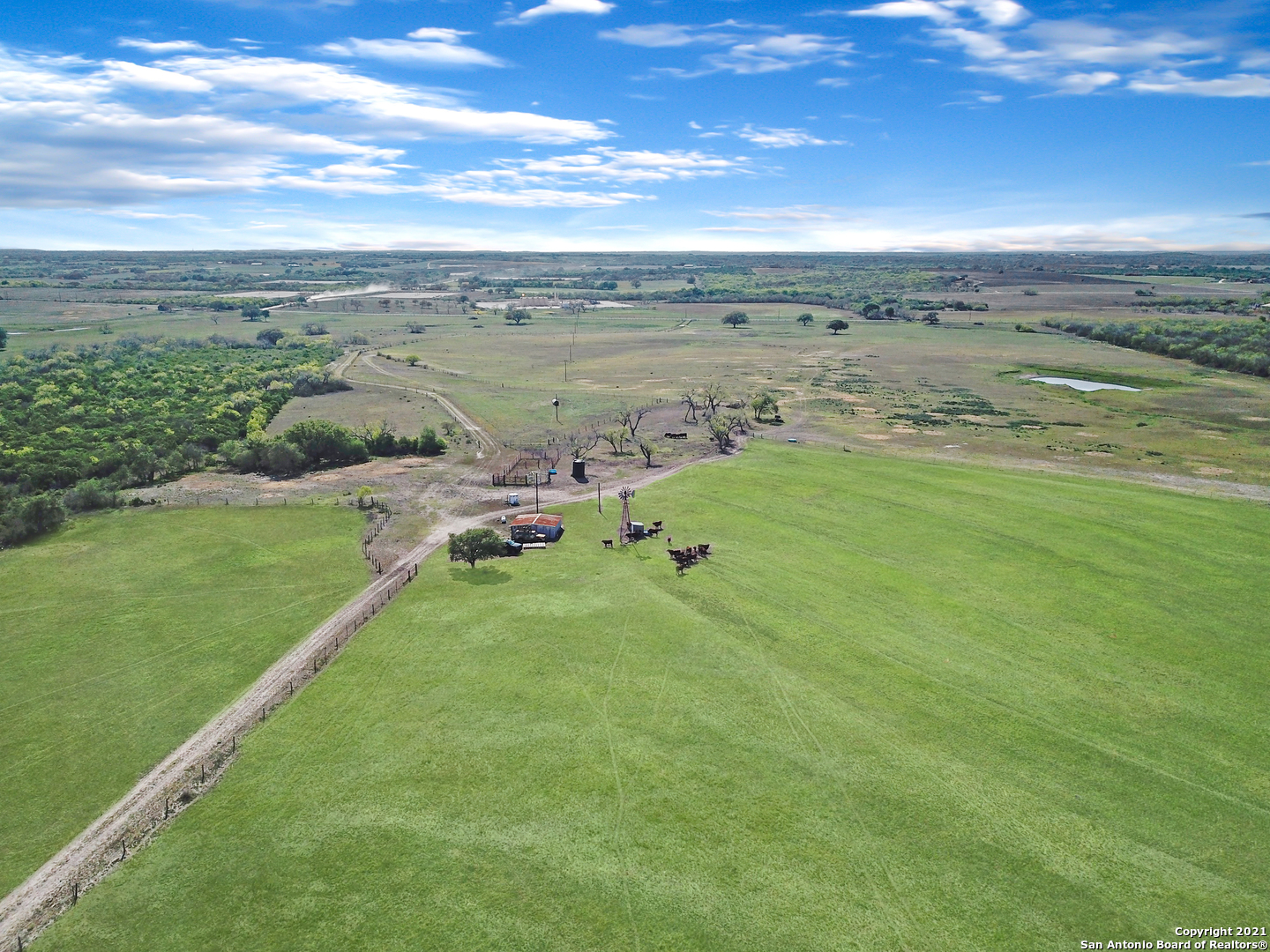 300 acres, minutes from Hobson, rare opportunity to acquire a family legacy ranch that hasn't been on the market in memory. Plenty of private building sites to build on, rolling hills and views. 200 acres of worked pastures for cattle, roughly 100 acres of natural vegetation to take advantage of hunting, large oak trees, makes this a diverse ranch!  IMPROVEMENTS  Water well, electricity drop, septic, barn, former home site.   All new or well maintained parameter fencing or cross fencing, active cattle ranch.   200 acres of worked pasture land.  1/2 Acre stock tank  TOPOGRAPHY   Flat to rolling hills with views.  Roughly 50 acres via west parameter is flood plain.  MINERALS  Surface rights only available.  No surface activity besides pipeline (8 acres) in northern portion of the ranch.  WILDLIFE  Whitetail deer and feral hogs