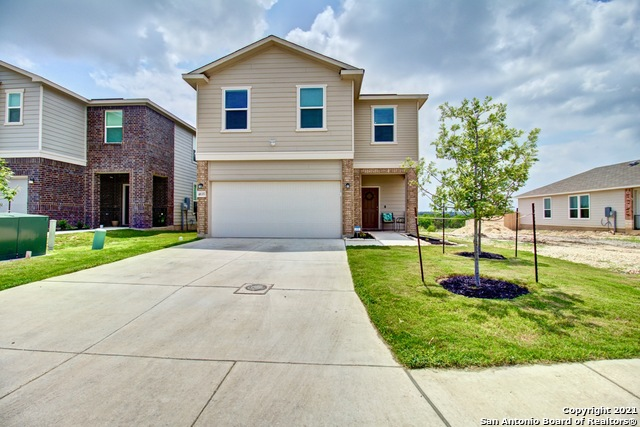 **Open House Sat & Sun 12-3pm** Why wait to build, when you can own this 9 month old KB Home!  Beautiful 2-story home that sits on a greenbelt lot! 3BDR / 2.5BTH, plus a loft that features an open concept floor plan with high ceilings, a large kitchen, and a lovely quartz island. LED can lights added in master, loft and guest bedrooms. The spacious Master bedroom on the 2nd floor has double vanity, a nice tub and a great walk-in closet. This property has a large backyard, with an awning and it backs up to a nice pond, great for gatherings